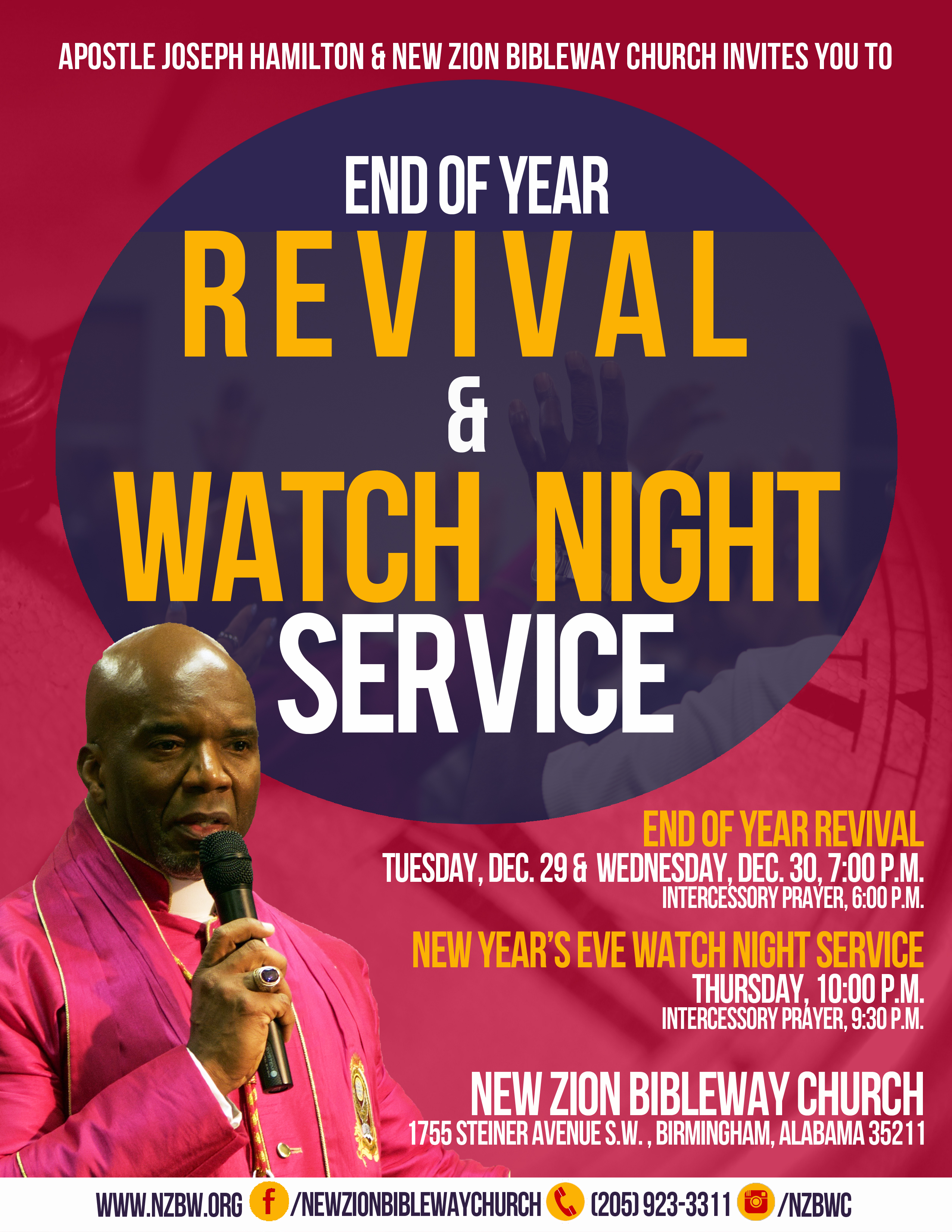 Zion bible way church end of year revival amp watch night service