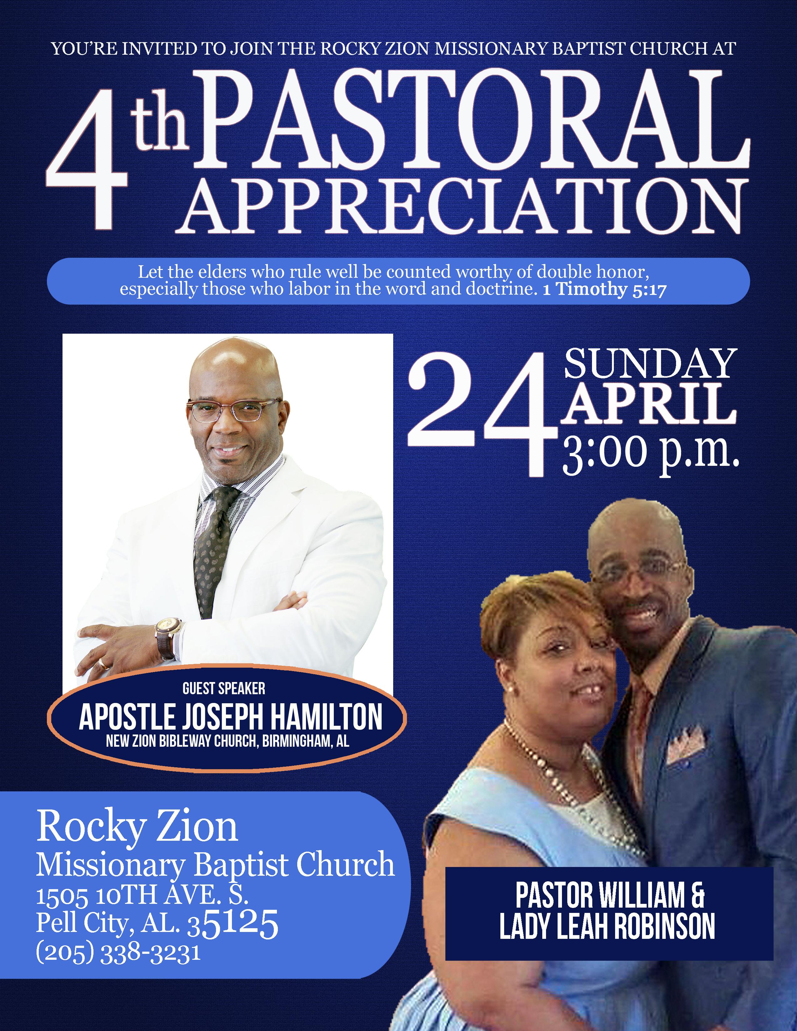 Pastor Appreciation Letter Sample Free